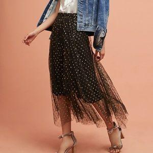 NWT Eva Franco Anthropologie Metallic Skirt